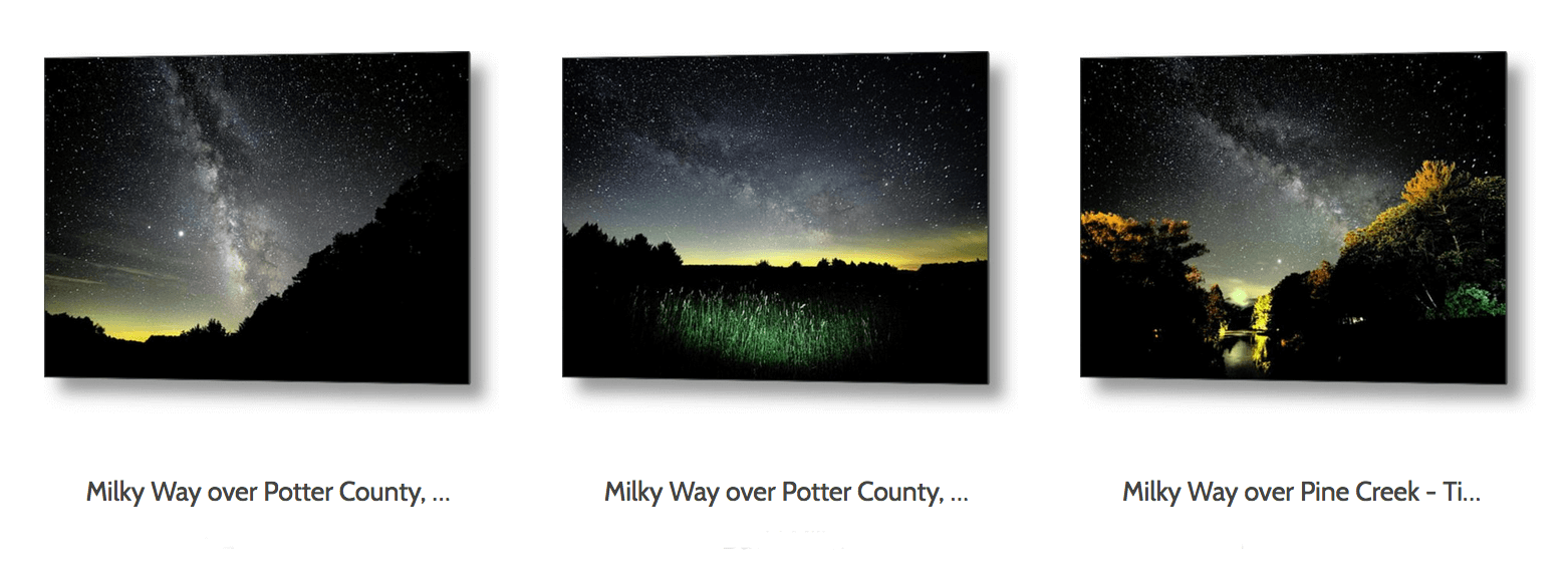 Shop our milky way and nature prints